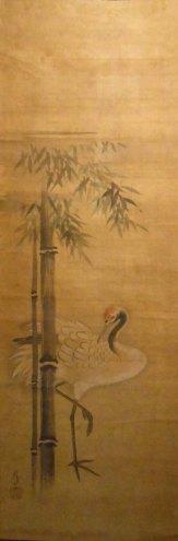 Grulla y bambú
