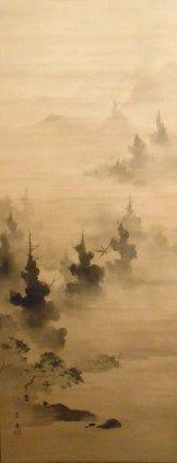Paisaje Shinto en la bruma