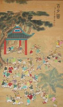 Niños chinos en la escuela