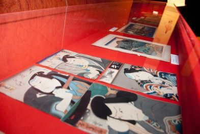 Grabado Ukiyo-e Teatro Kabuki